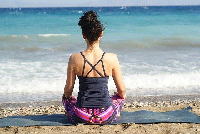 jóga u moře
