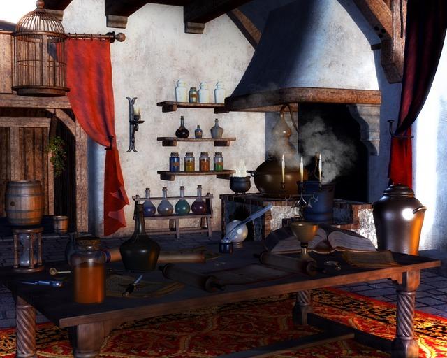 kuchyň čarodějnice